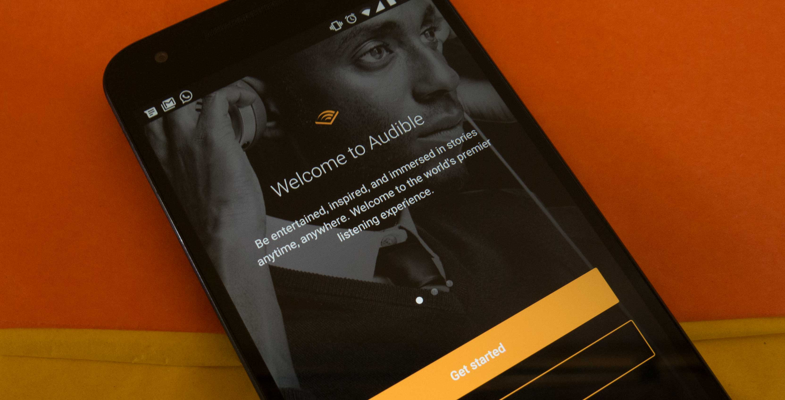 An image of the Audible login page