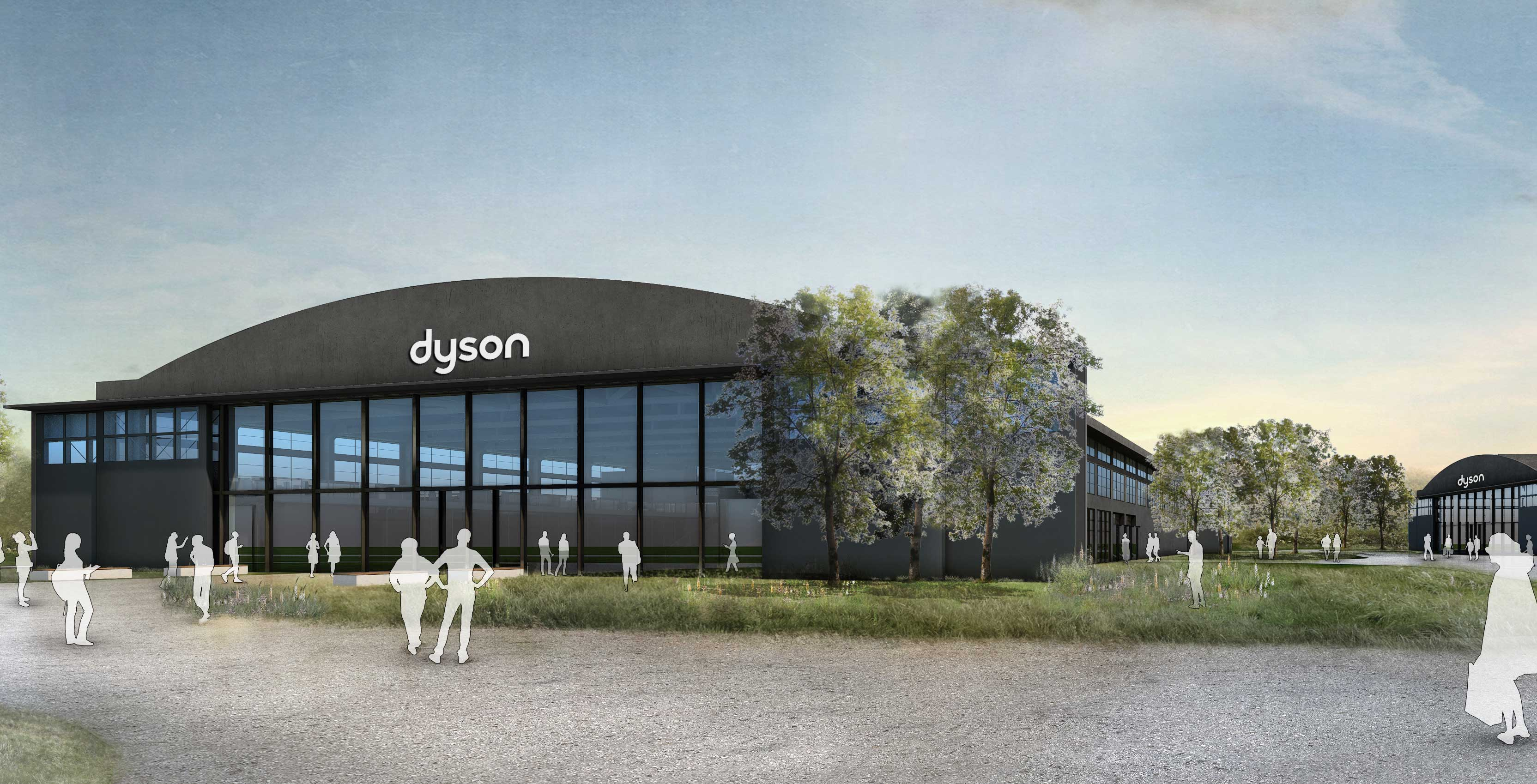 An image of the Dyson headquarters