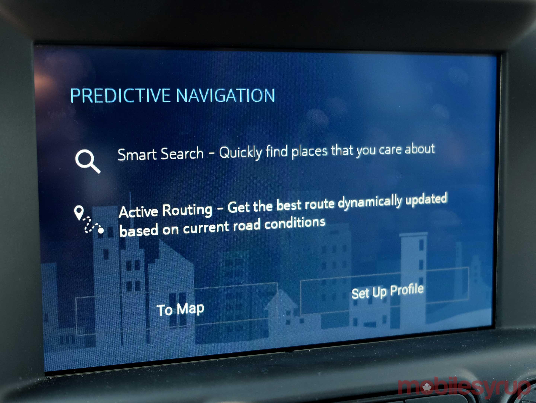 GMC Terrain predictive navigation
