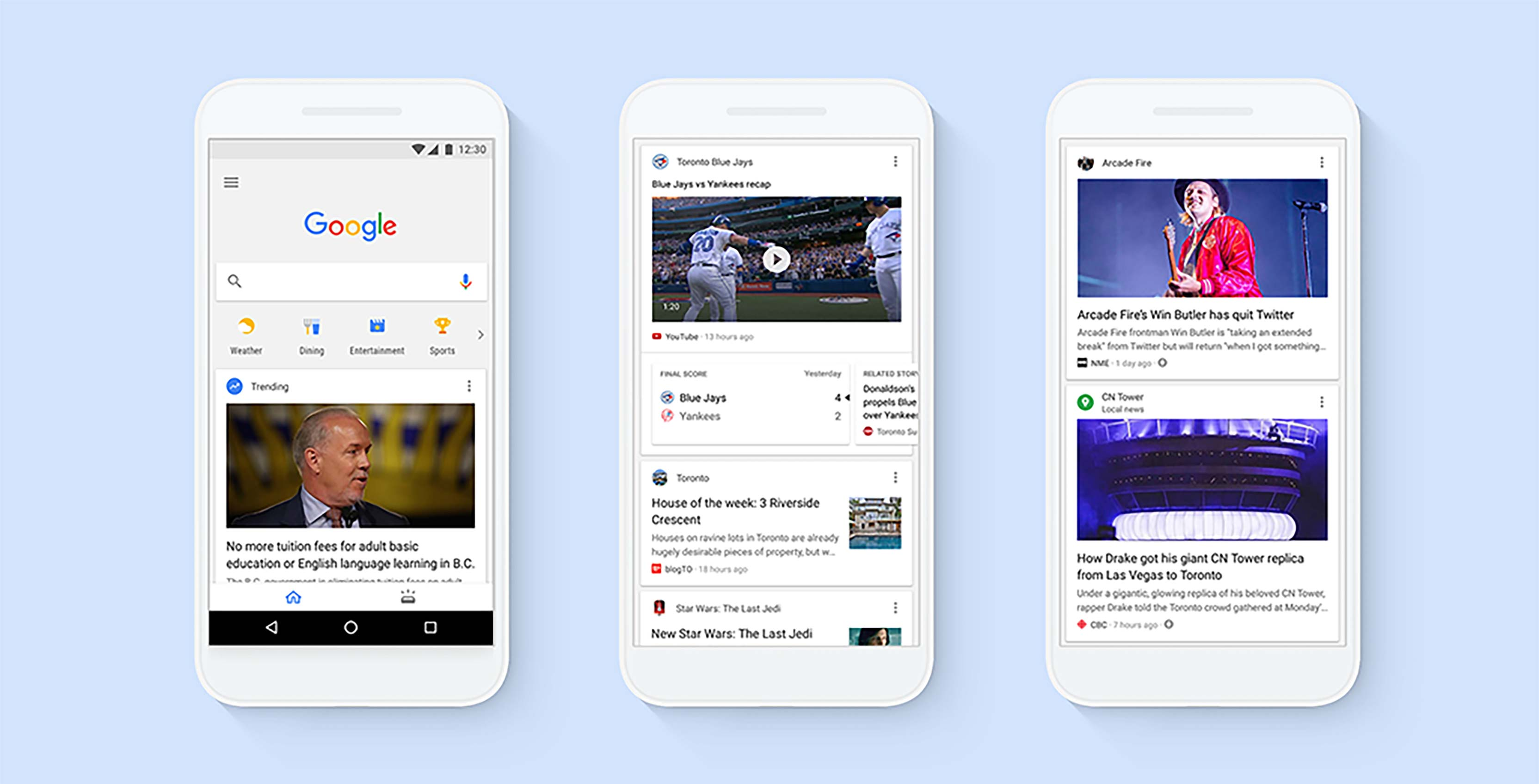 Google Feed example
