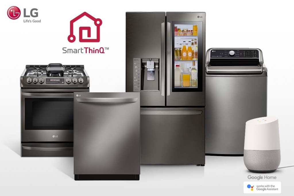 LG appliances with Google Home