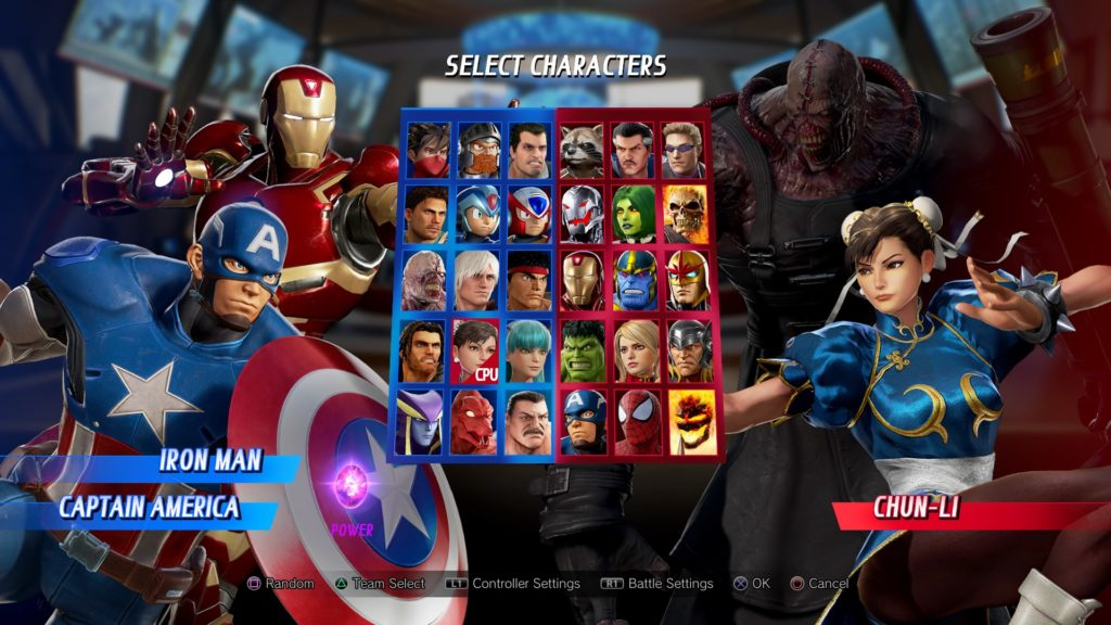 Marvel vs. Capcom Infinite roster