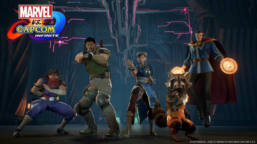 Marvel vs Capcom Infinite heroes
