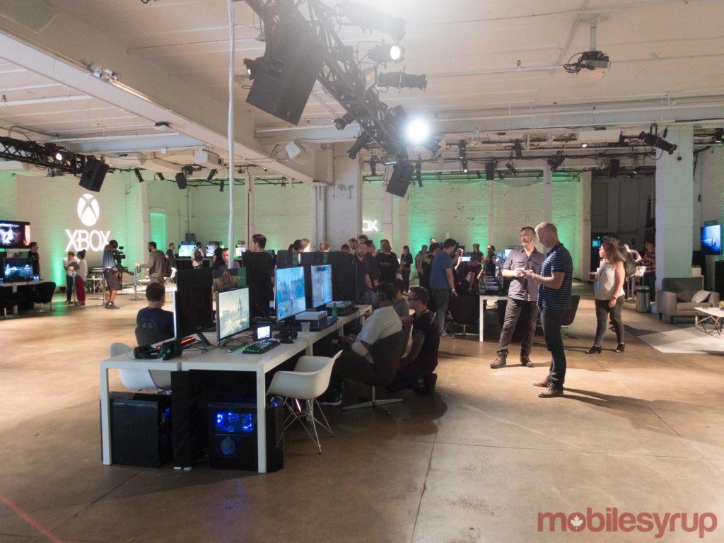 Xbox Showcase Experience room