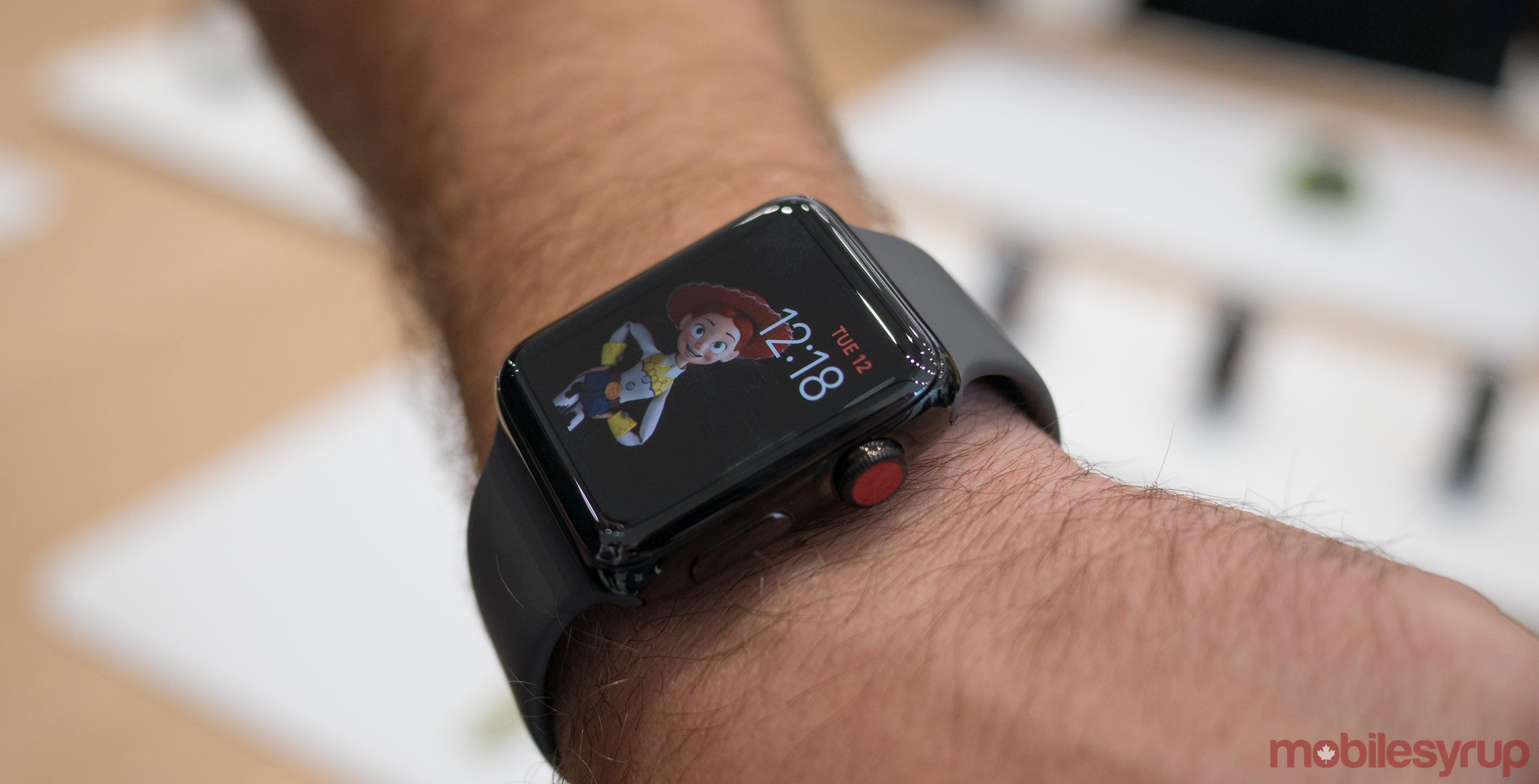 Apple Watch Series 3 on wrist