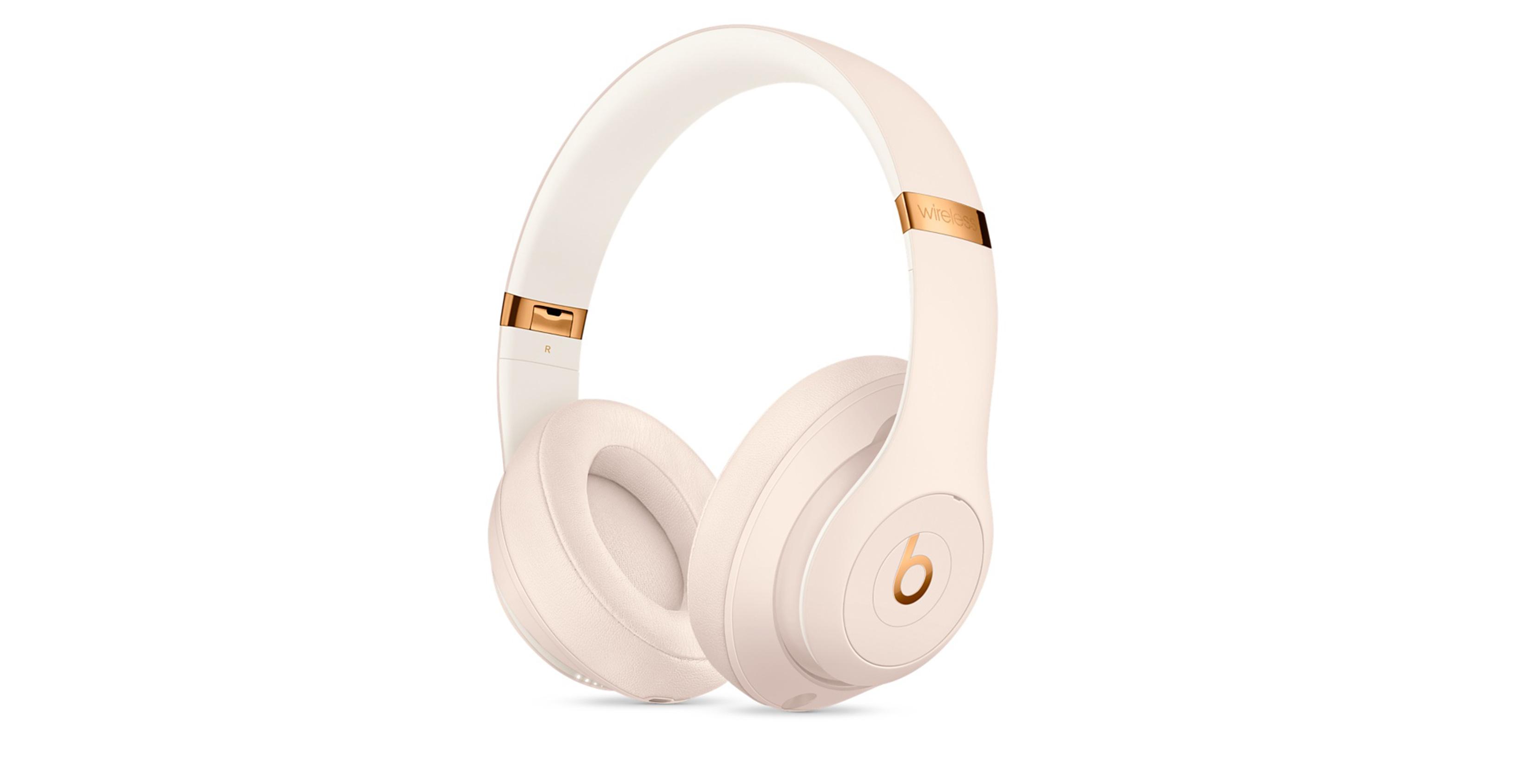 beats studio 3 wireless headphones in porcelain rose