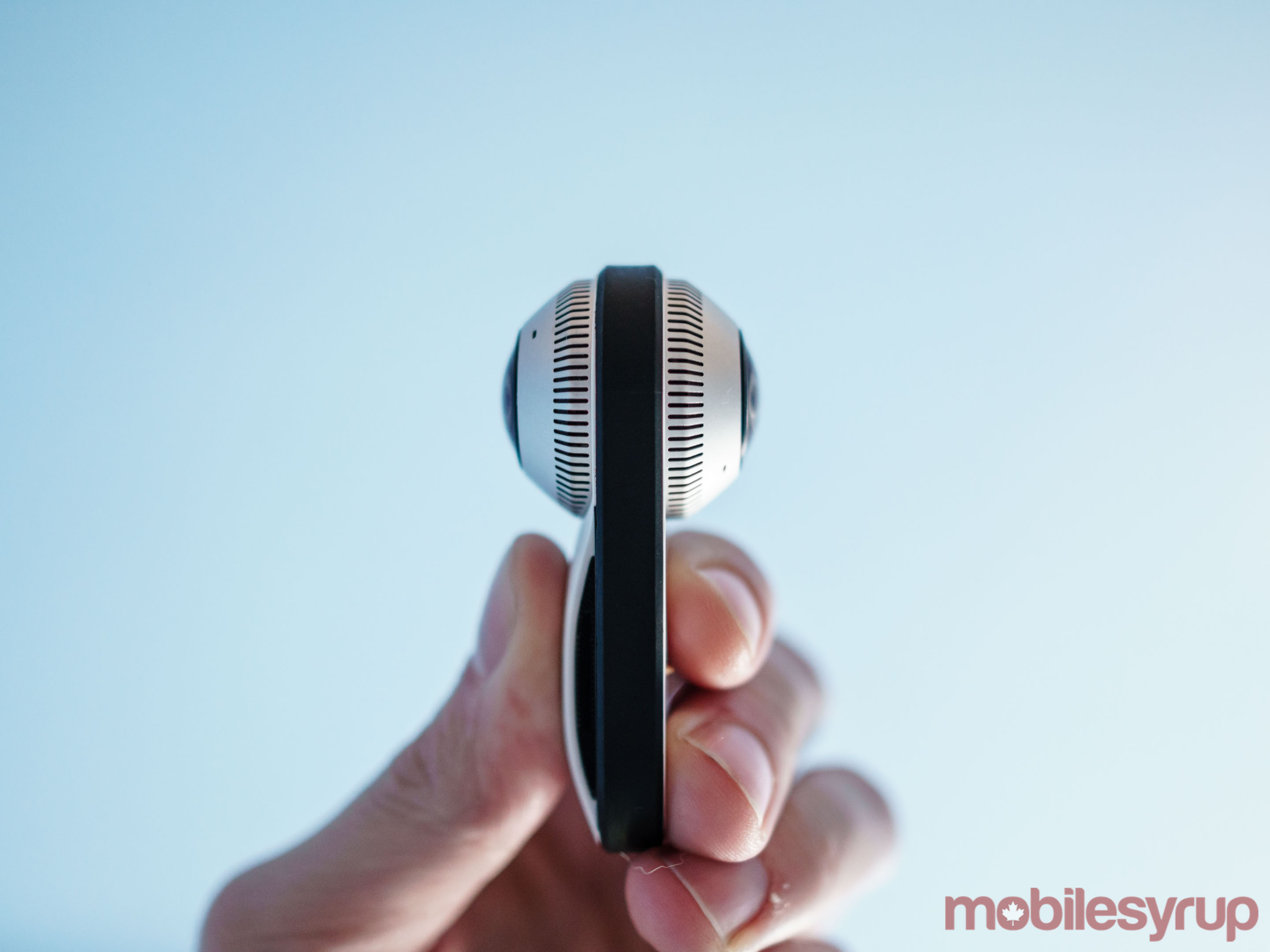 Side view of the Essential 360 Camera
