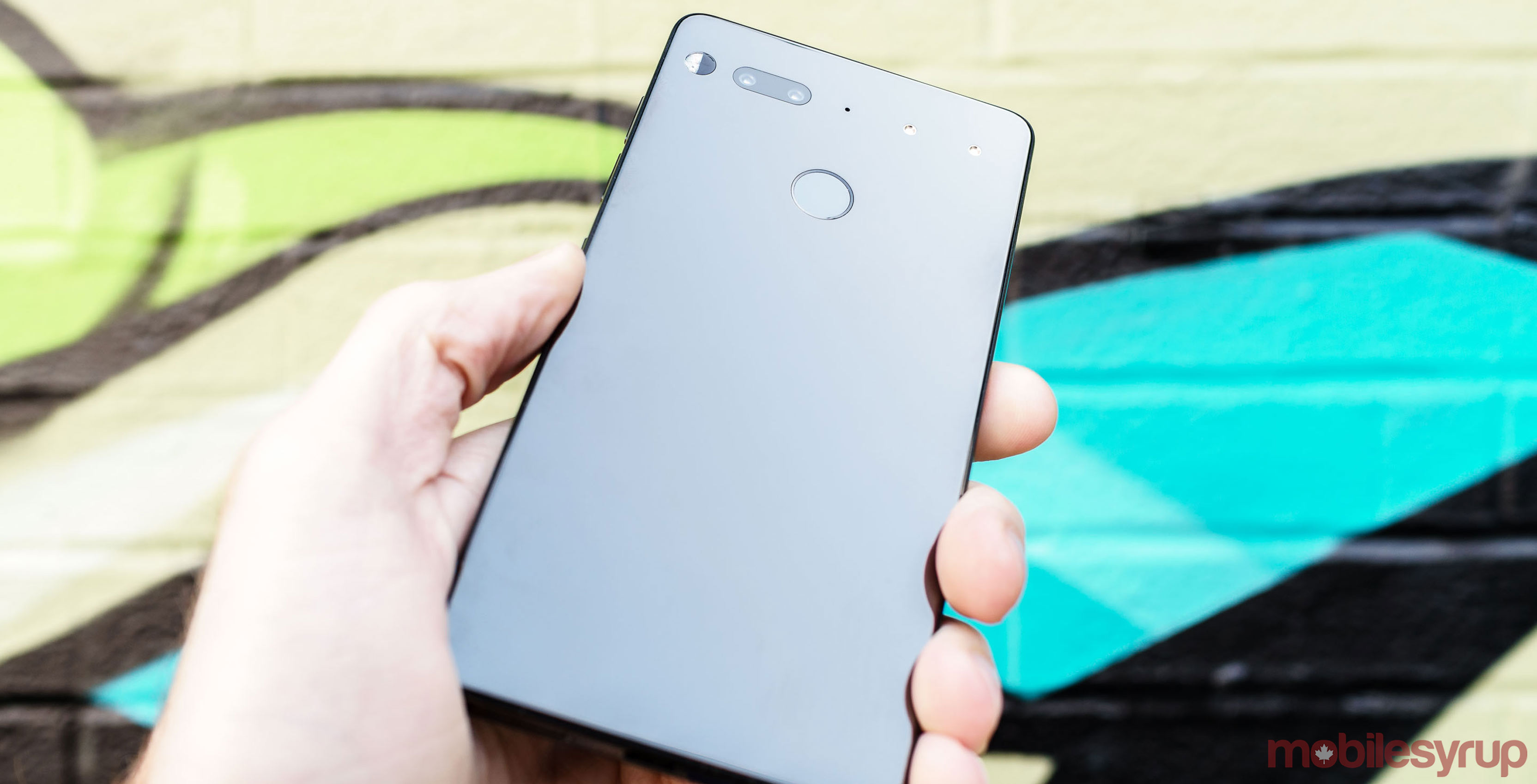 Back view of Essential Phone