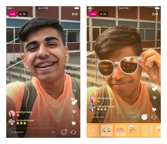 Instagram Live Video face filters will give Snapchat deja-vu