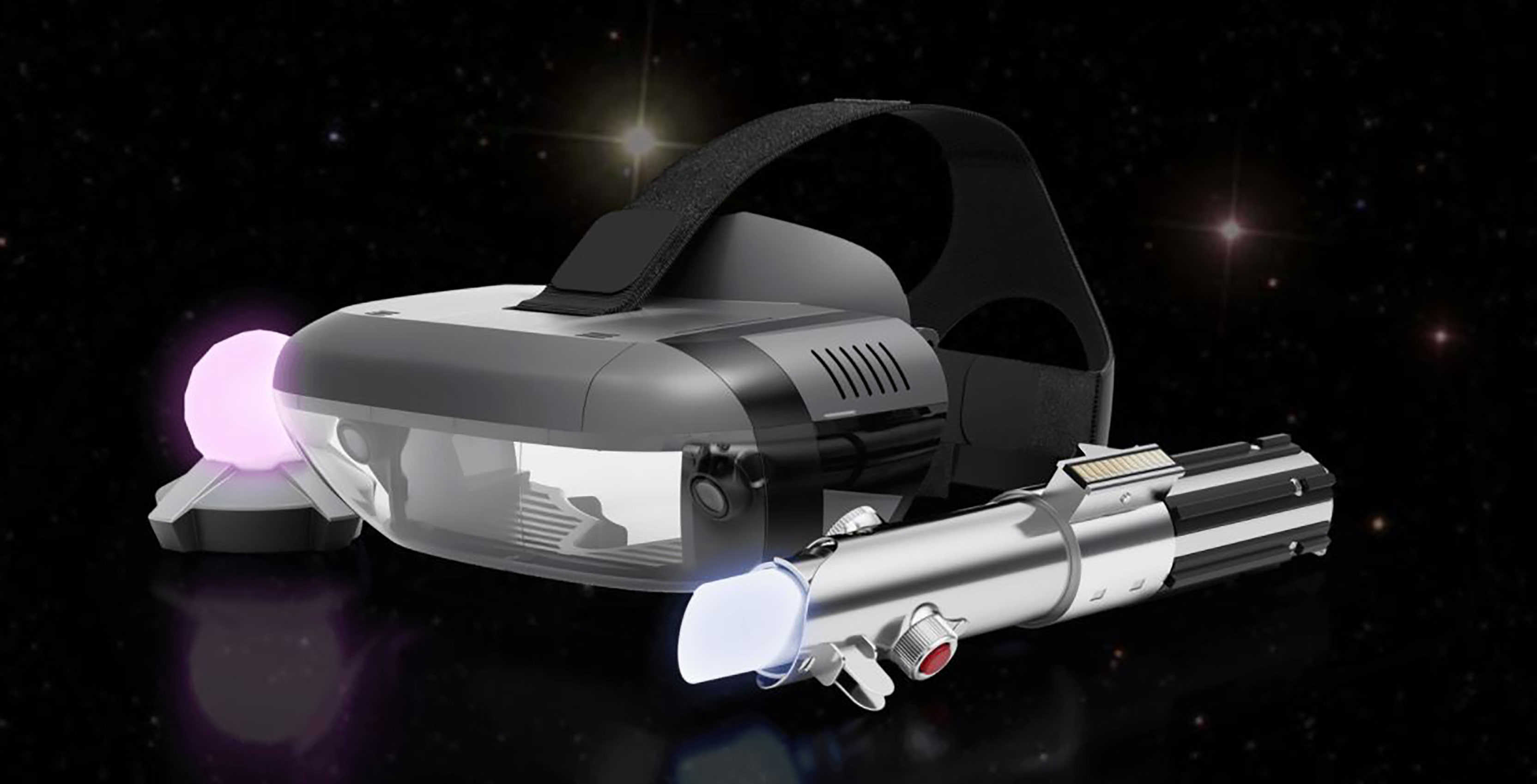 Lenovo mirage, with lightsaber controller and trackpad