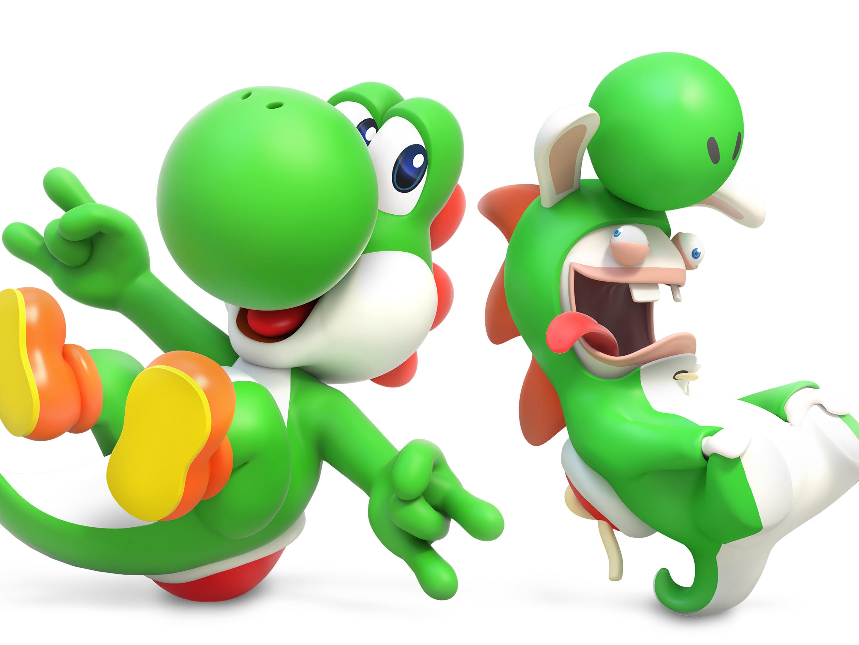 Mario + Rabbids render Yoshi