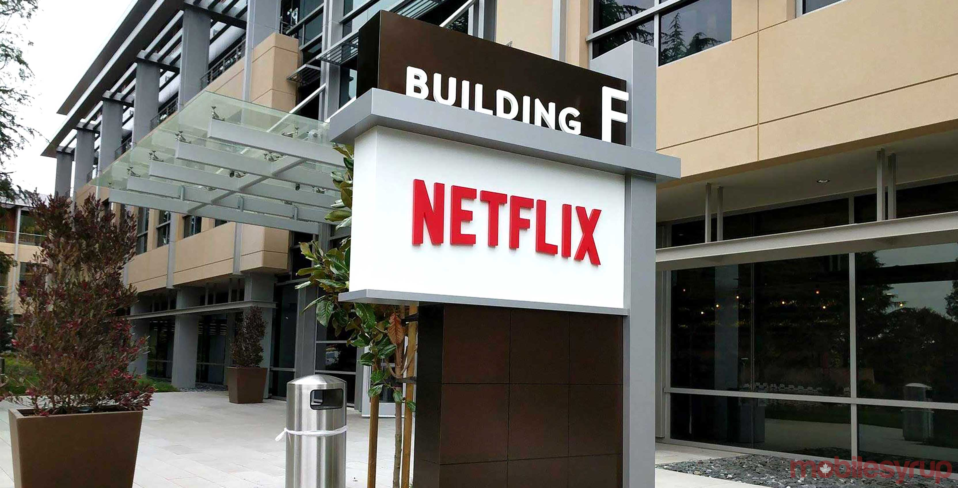 Netflix office sign