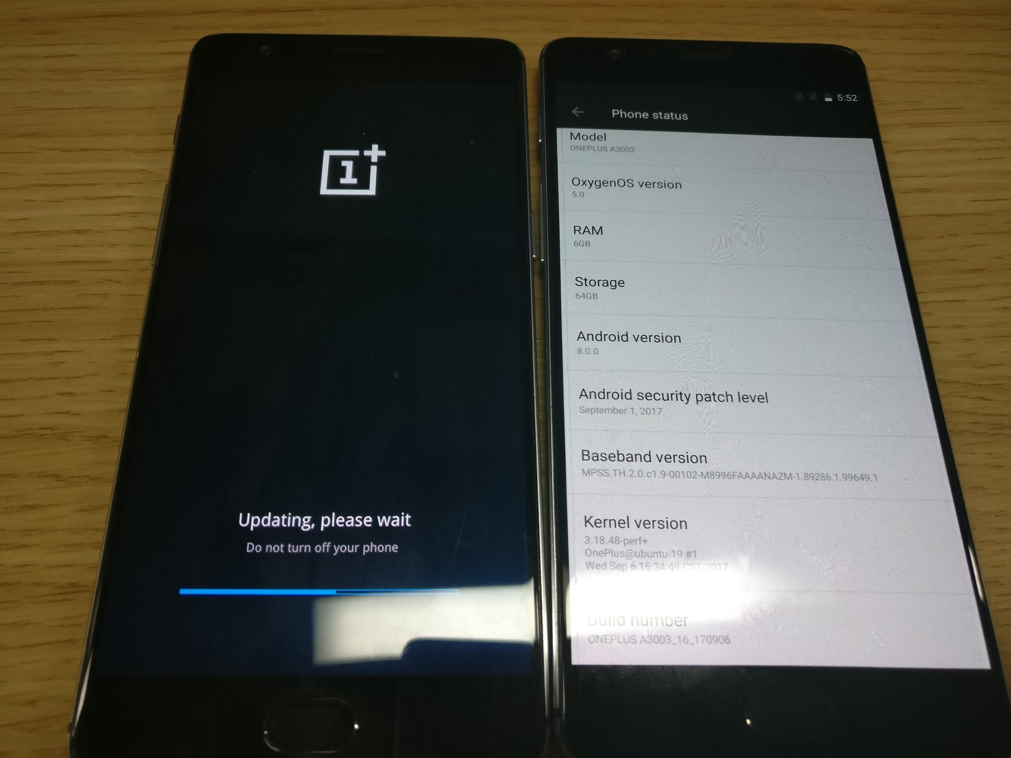 OnePlus 3 Android O closed beta build
