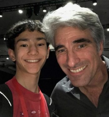 An image of Phillipe Yu (left) with Craig Federighi (right)