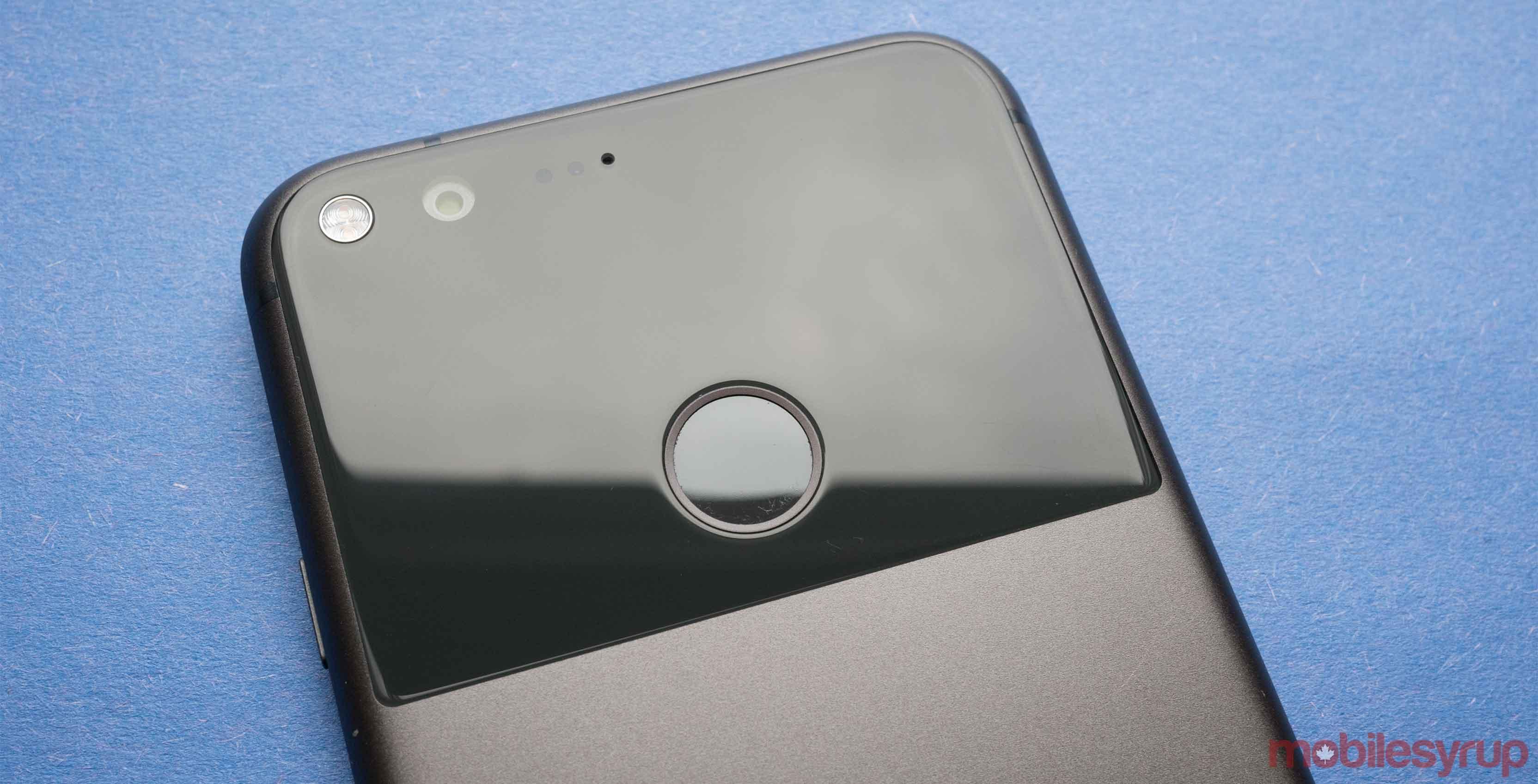 Pixel smartphone's rear