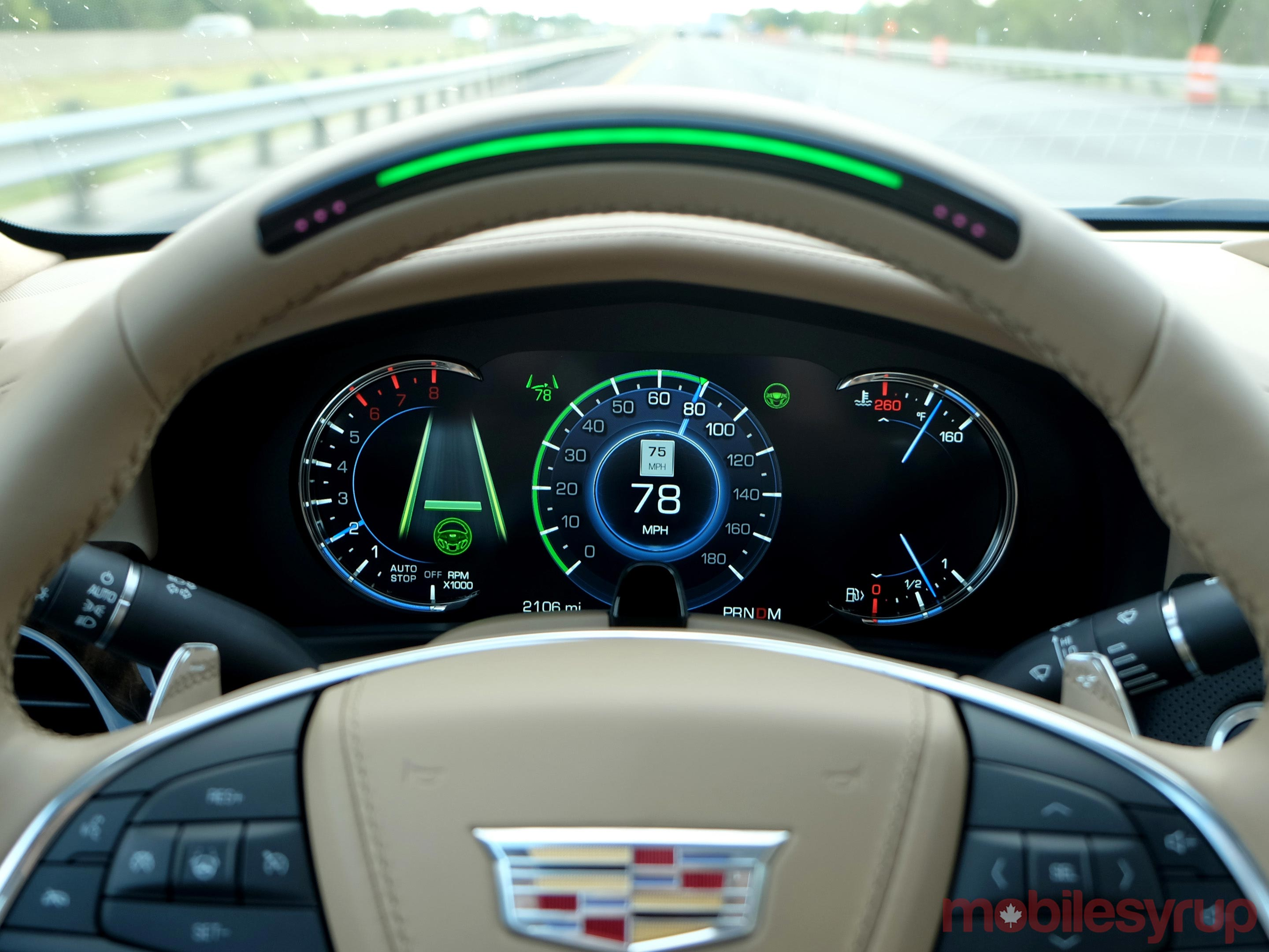 Cadillac CT6 SuperCruise wider view