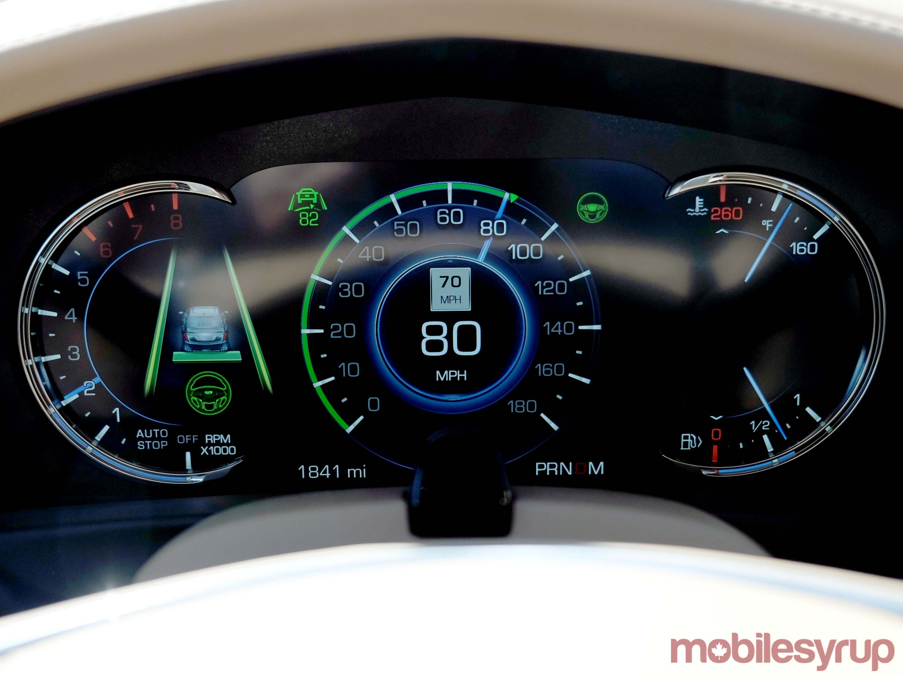 Cadillac CT6 cluster close up