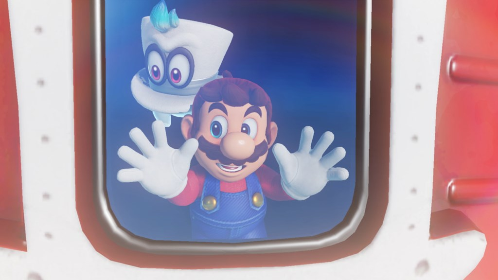 Mario and Cappy spaceship