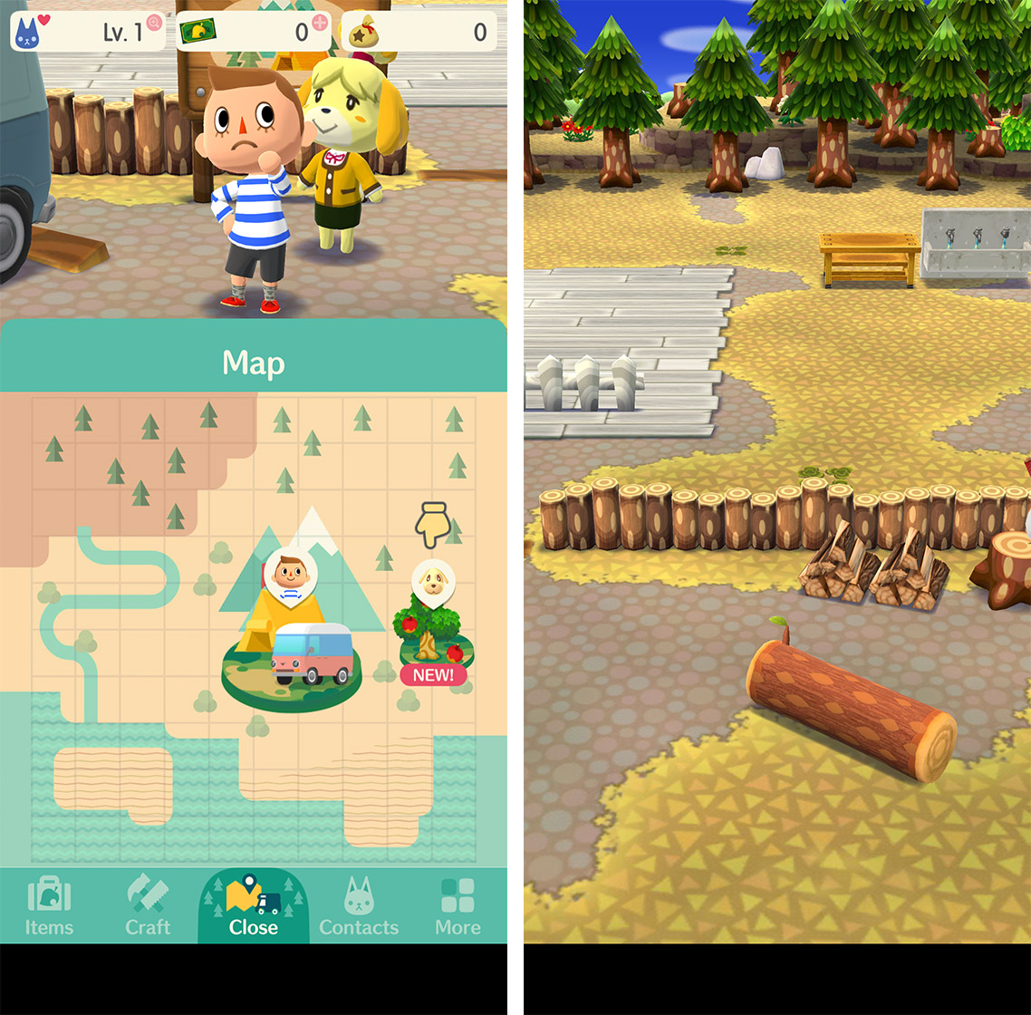 Animal Crossing Pocket Camping