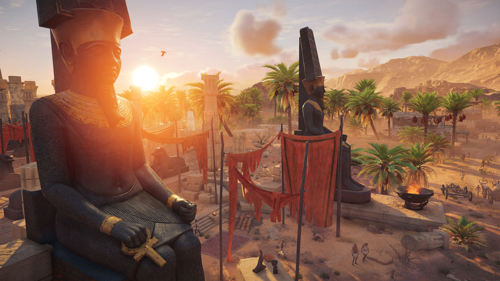 Assassin's Creed: Origins statues