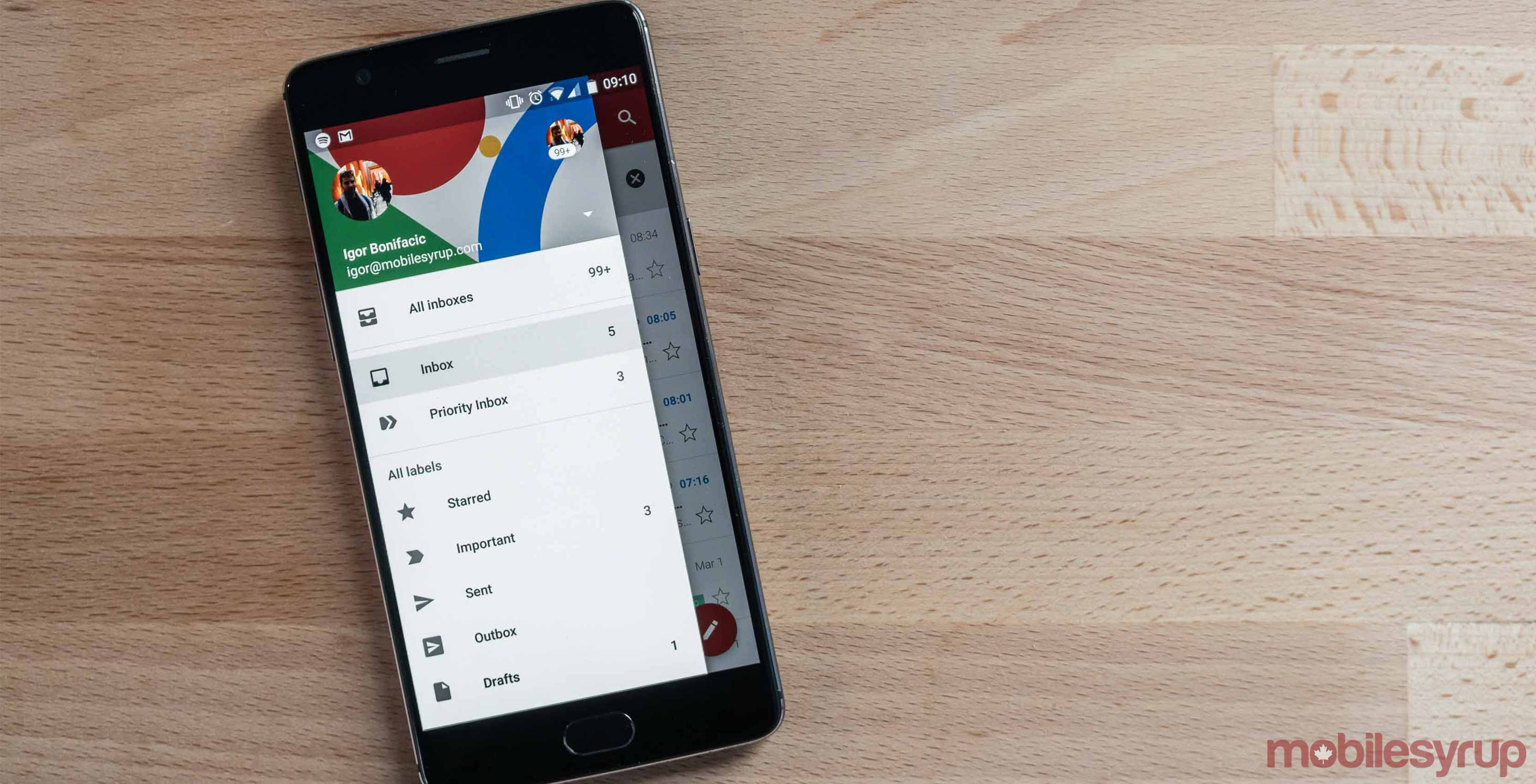 Gmail app on Android