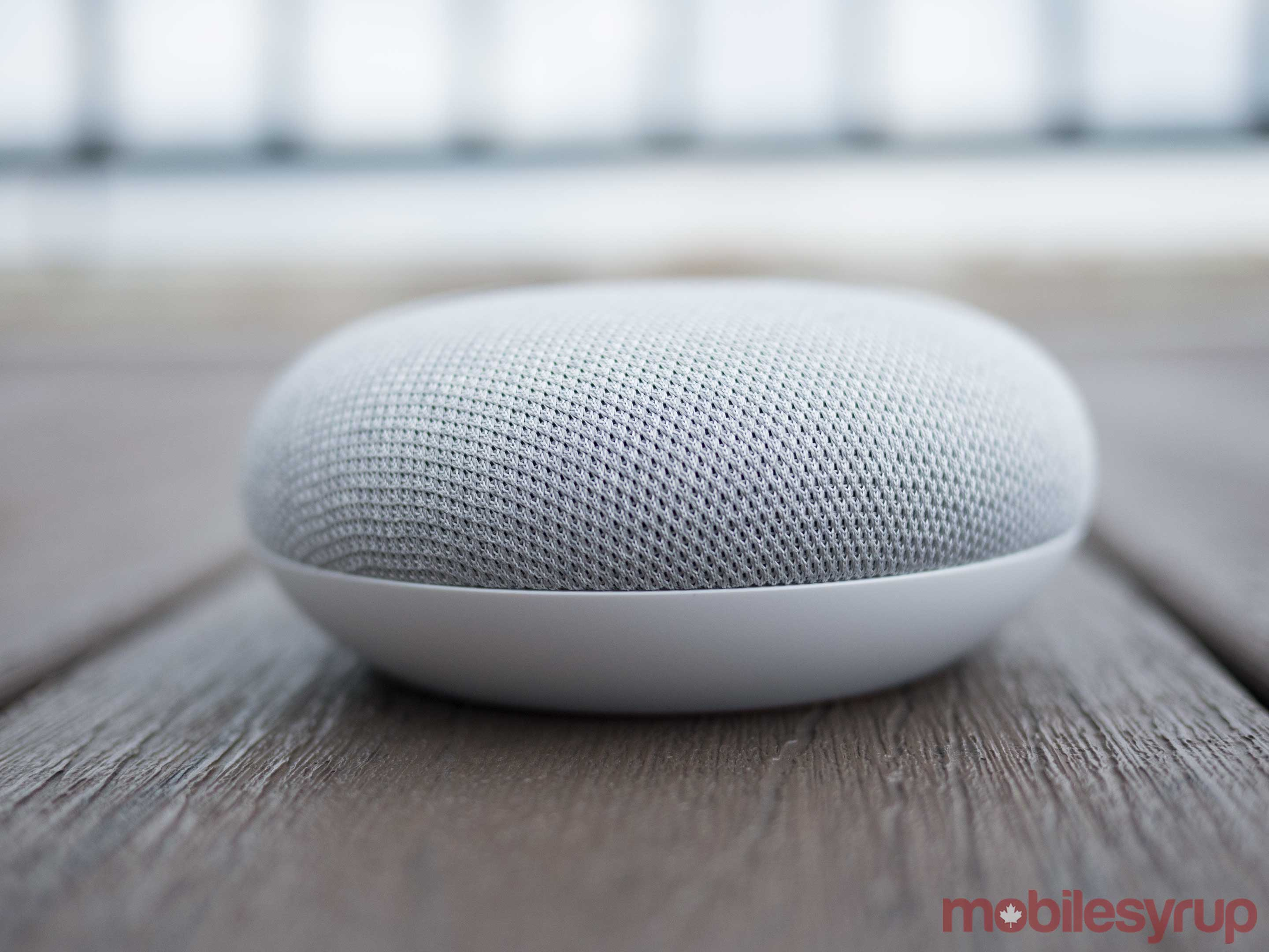Google Home Mini side view