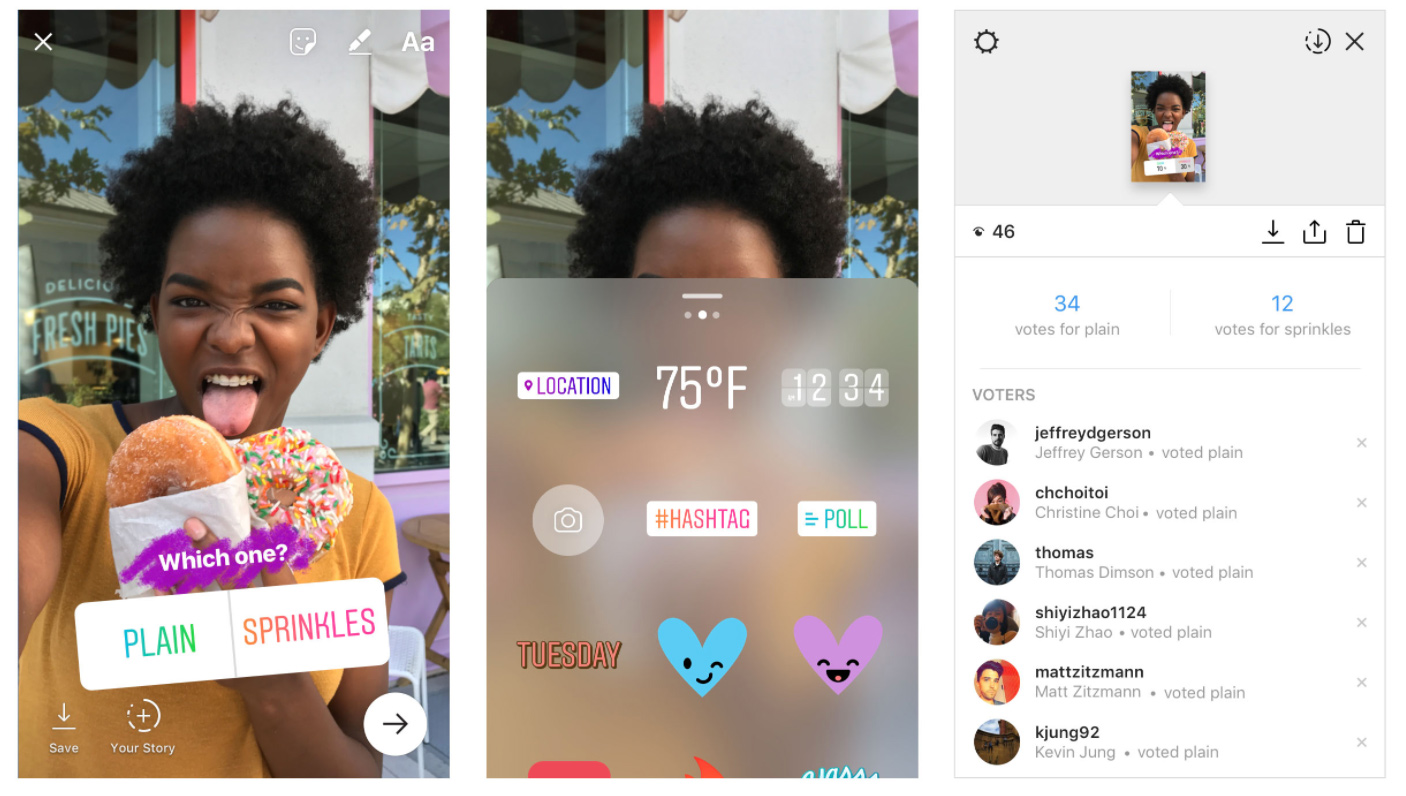 Instagram Stories receives new 'interactive poll sticker' along with new creative tools