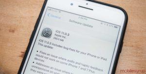 iOS a la versión 11.0.3