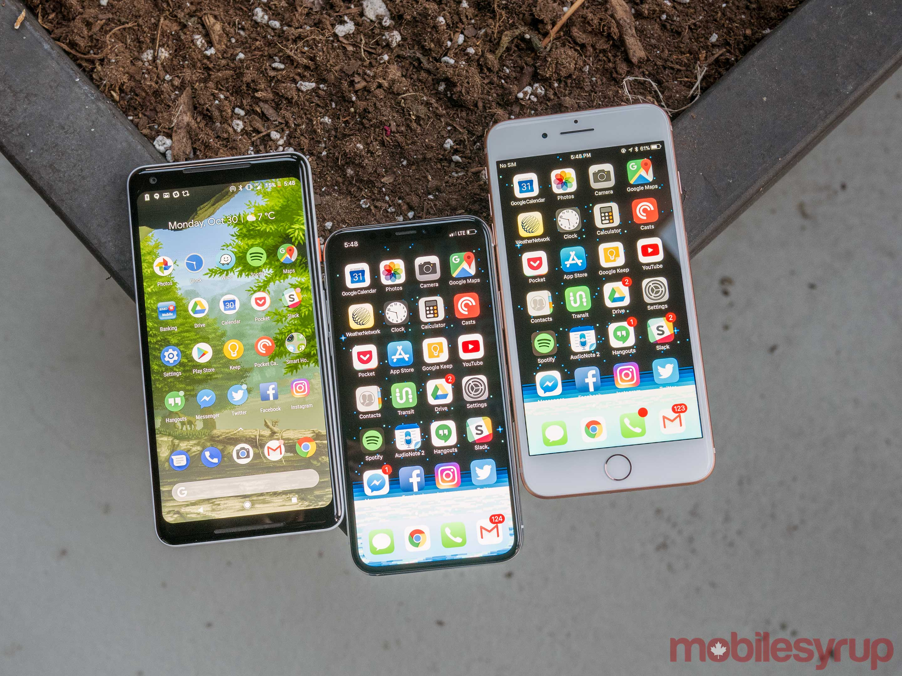 iPhone X vs Pixel 2 XL vs iPhone 8 Plus