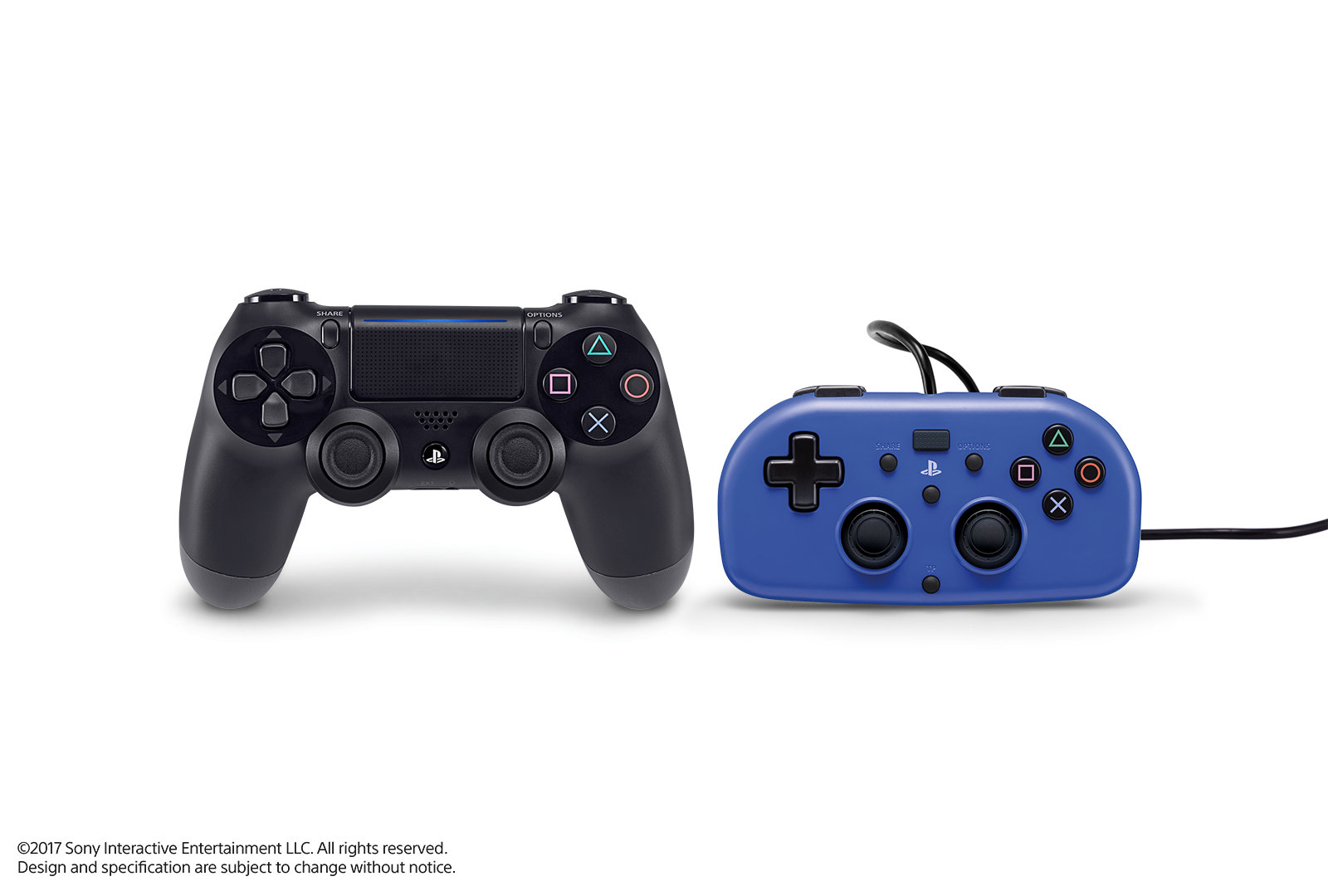 Dualshock 4 and Mini Wired Gamepad