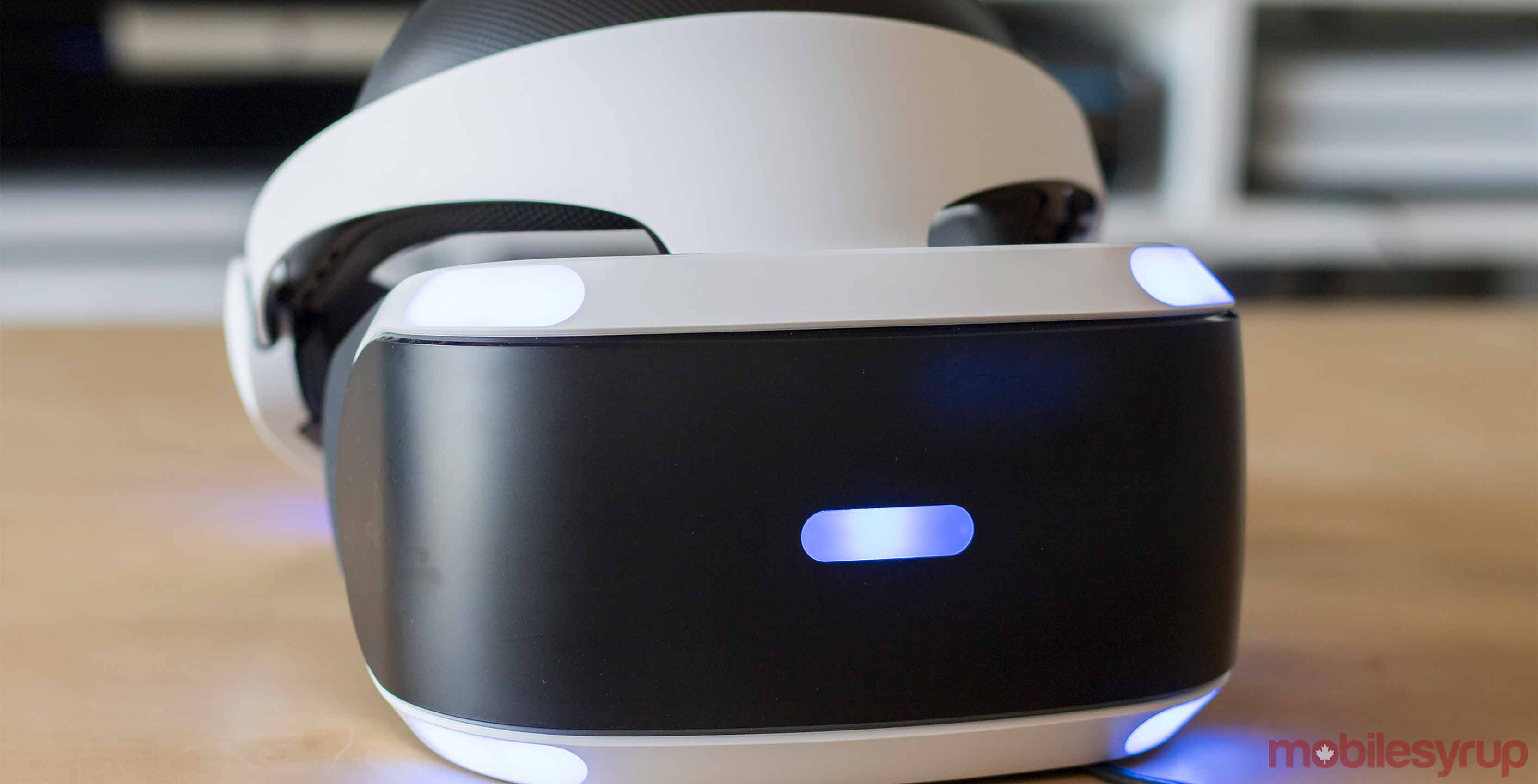 PlayStation VR on table