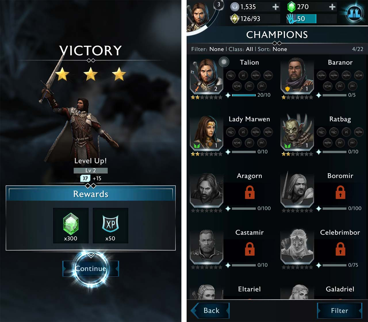 Shadow of War mobile Champions