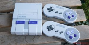 SNES Classic with controllers