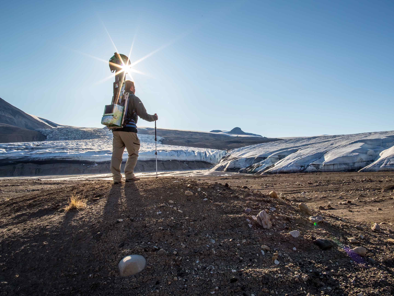 quttinirpaaq national park trekker