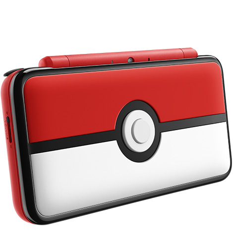 New Nintendo 2DS XL Poke Ball Edition angle