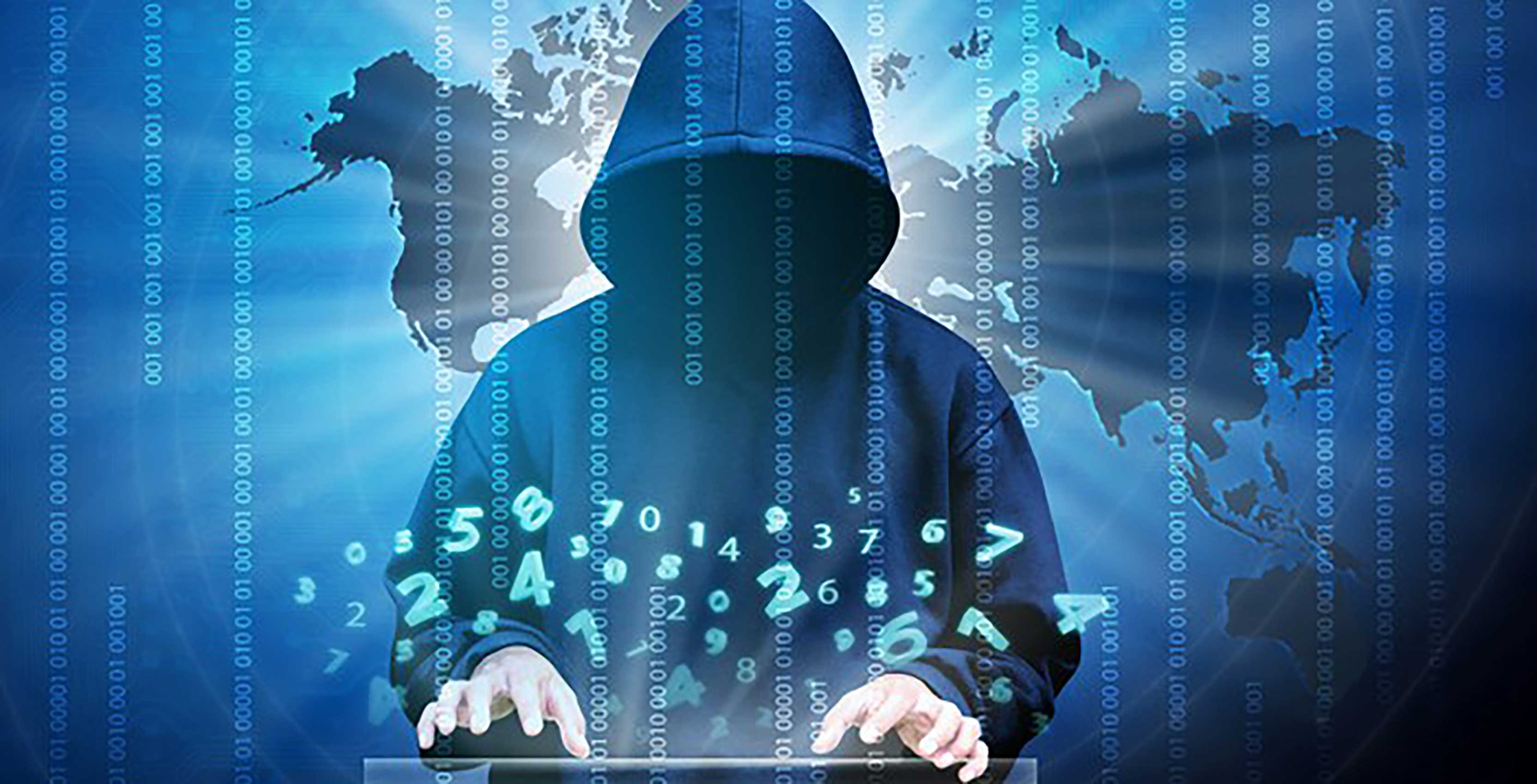 Man in hood cybercrime