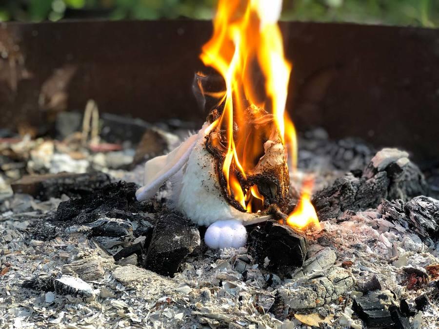 Furby burning