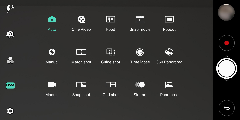 LG V30 manual camera modes