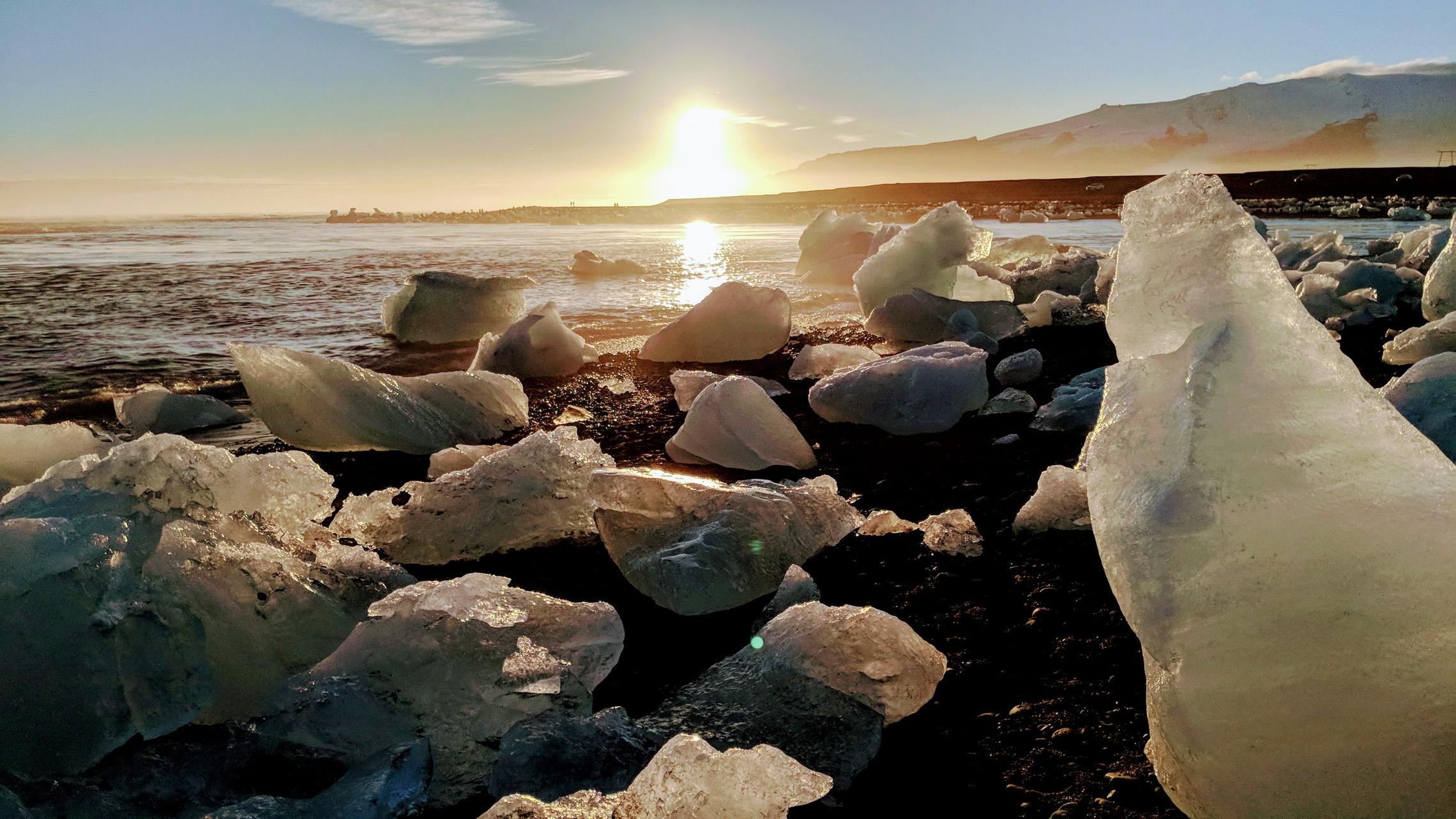 Pixel 2 glacier sunset