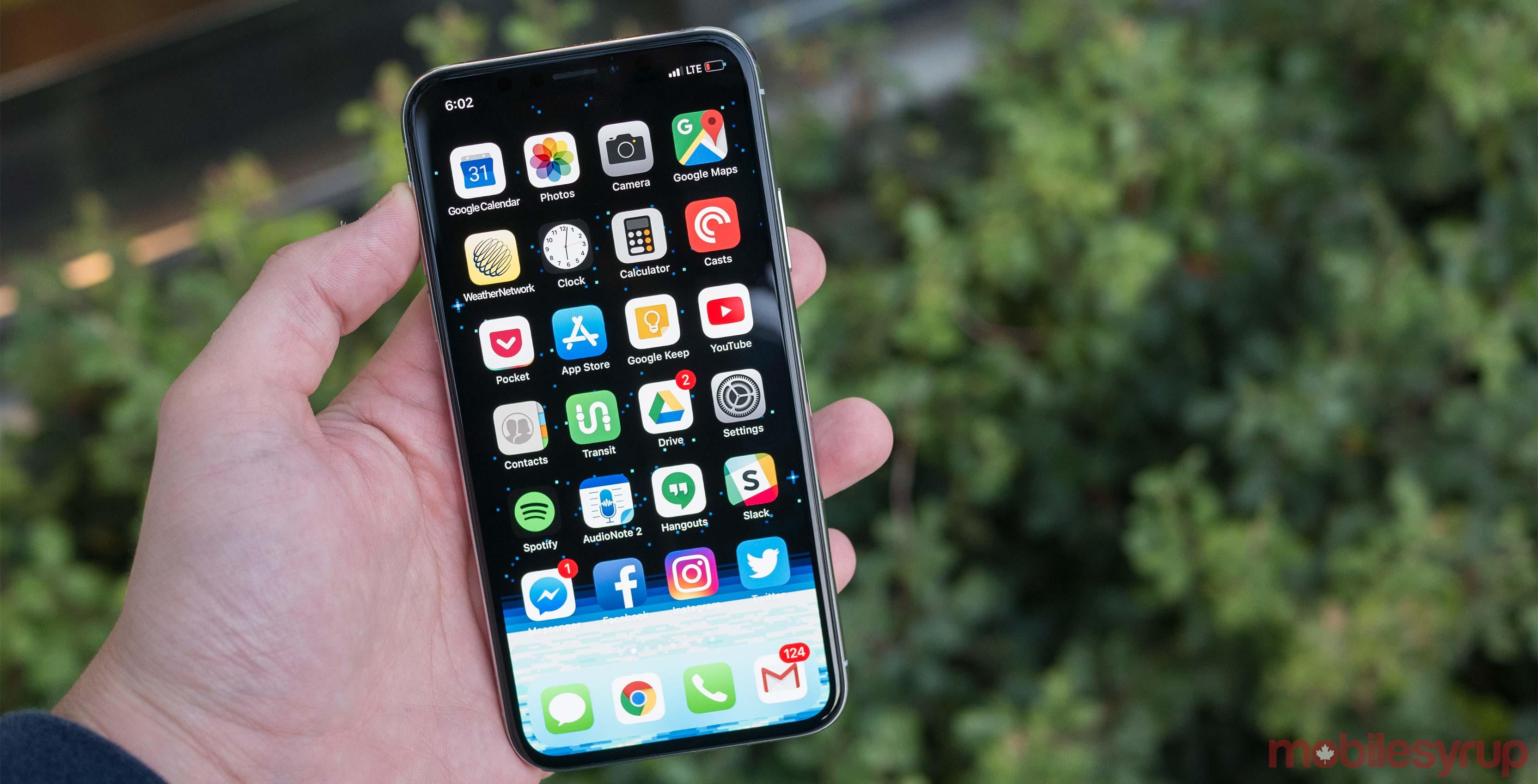 iPhone X display screen