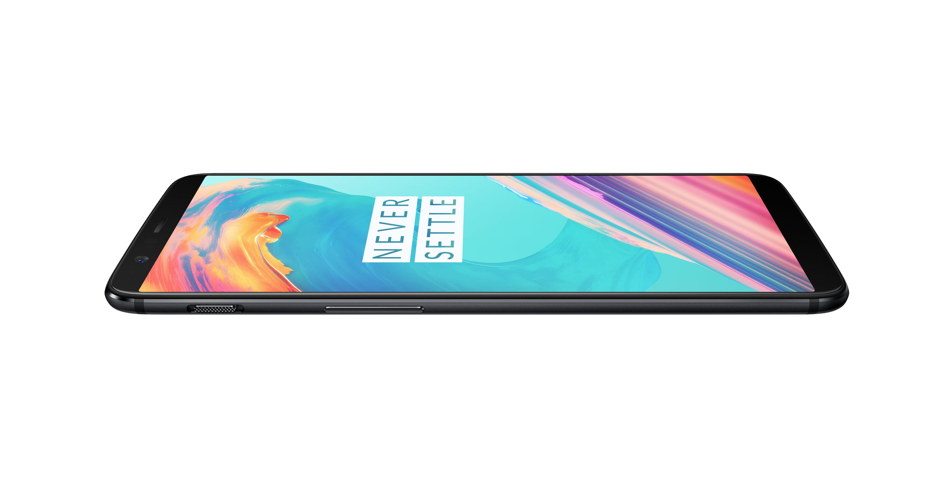 Top of OnePlus 5T smartphone