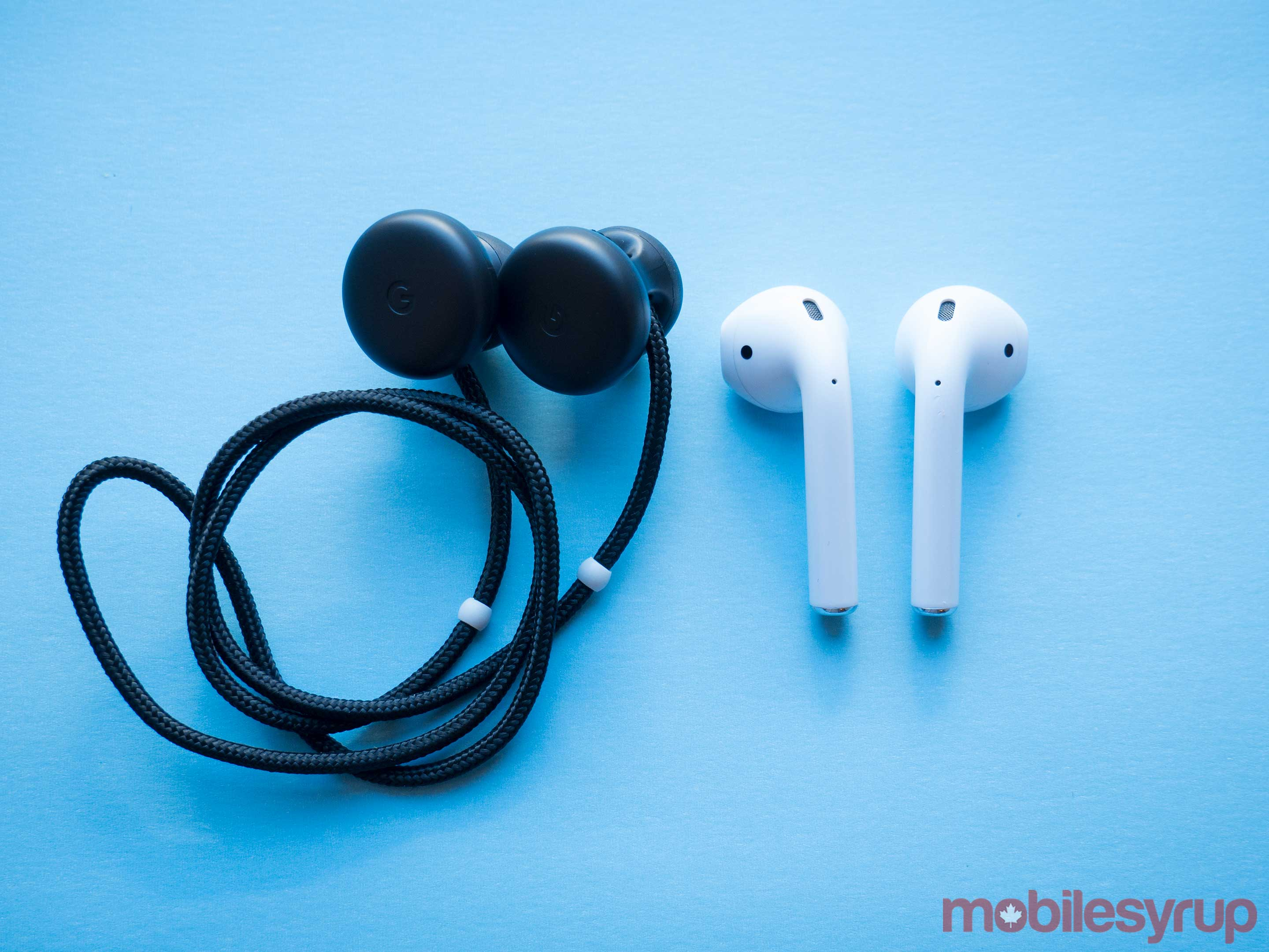 Pixel Buds and Apple's AirPods
