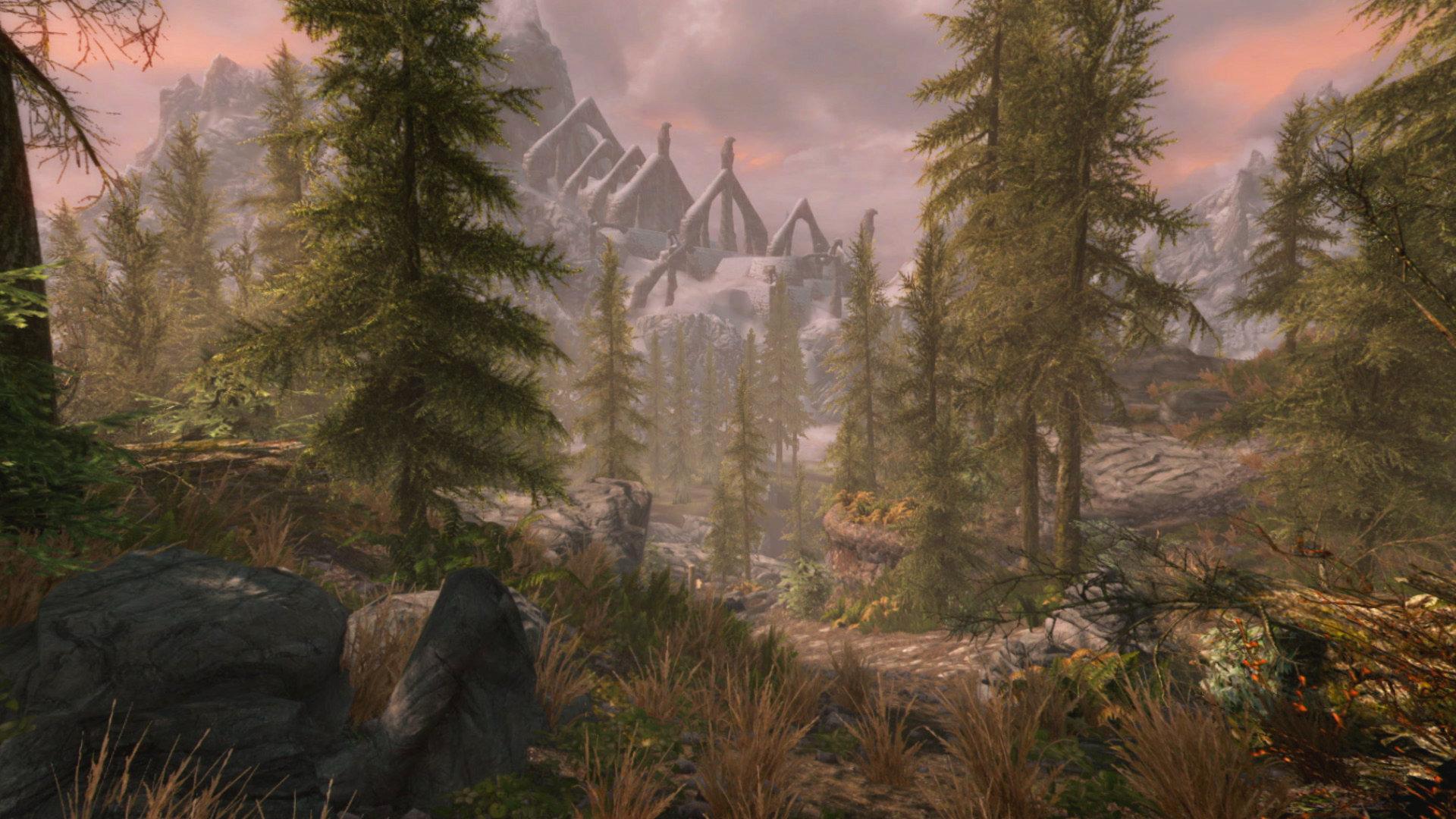 Skyrim VR forest