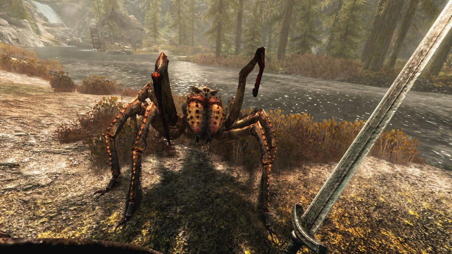 Skyrim VR sword spider