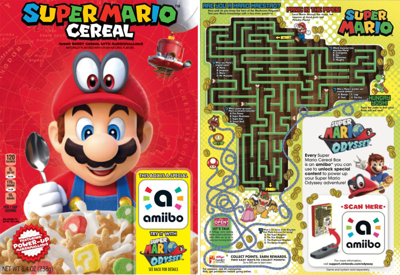 Super Mario Cereal from Nintendo and Kellogg's is not coming to Canada