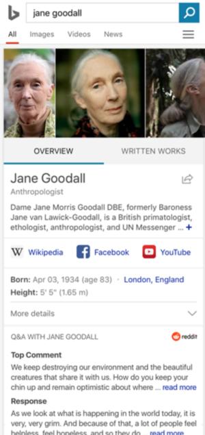Bing Reddit Jane Goodall