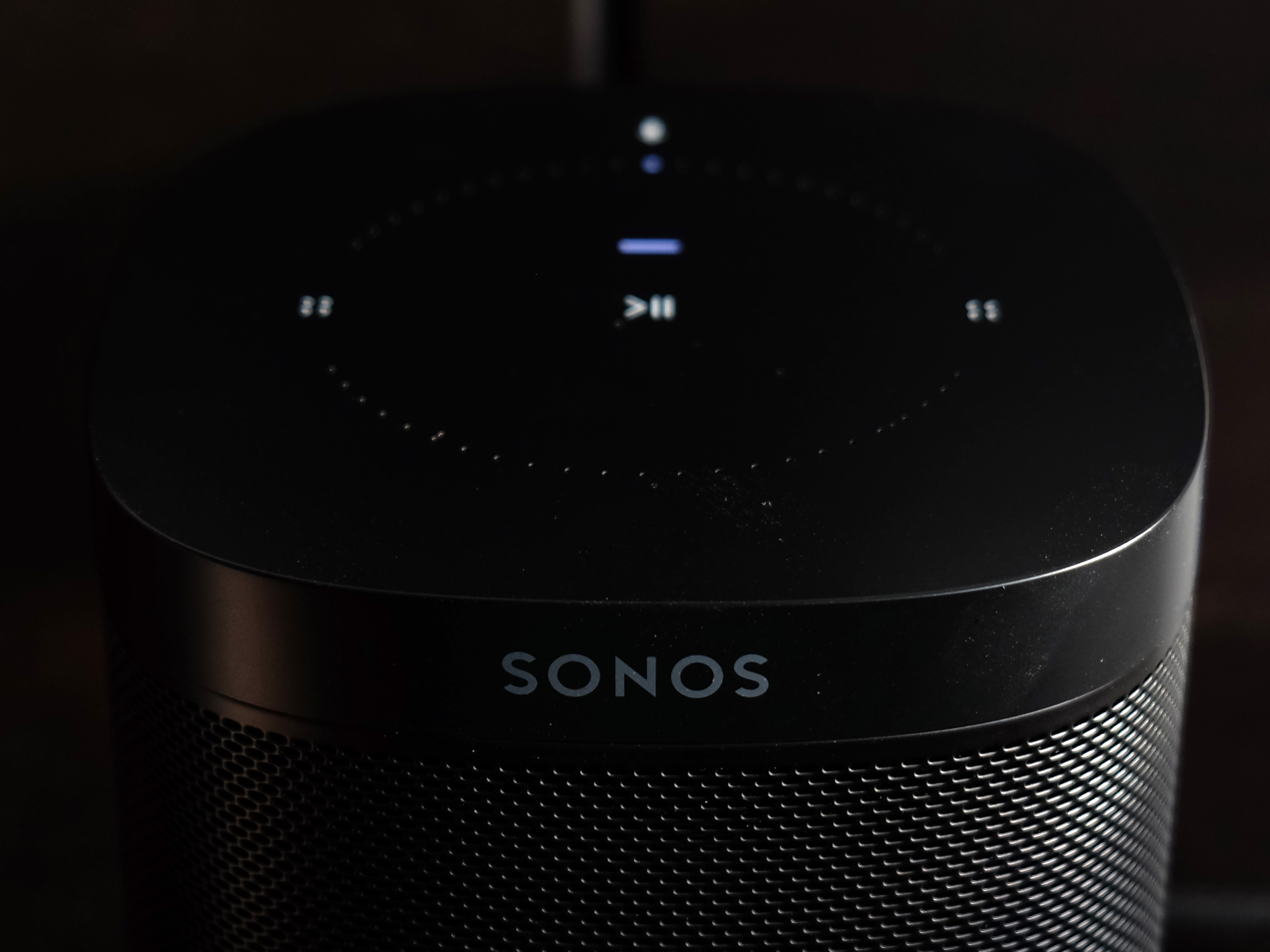 Sonos One top angle