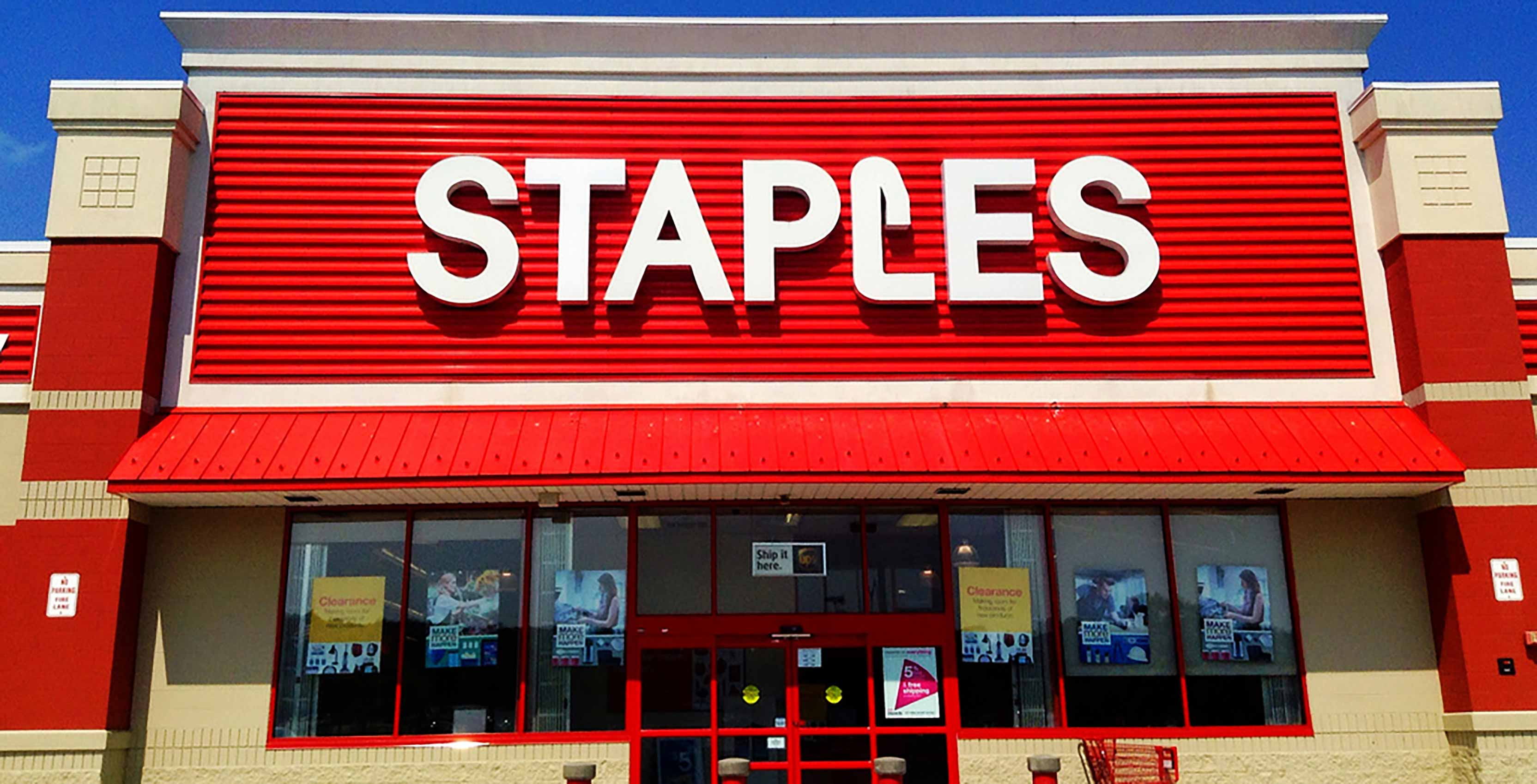 Staples store front