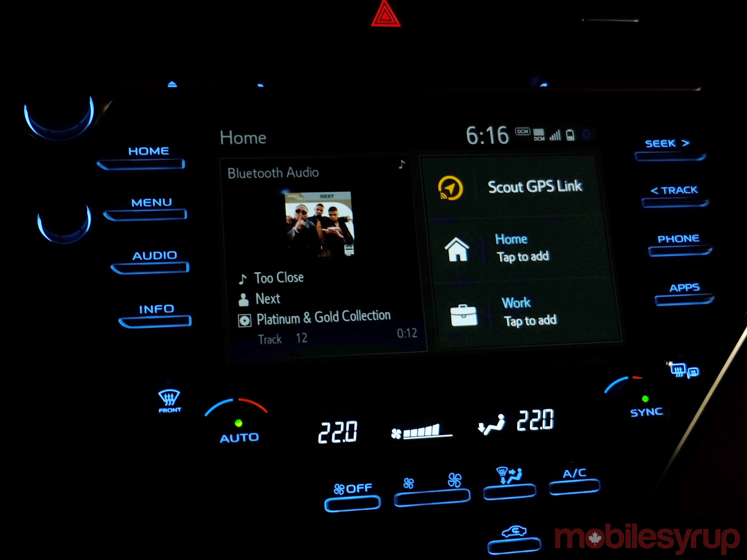 Toyota infotainment screen