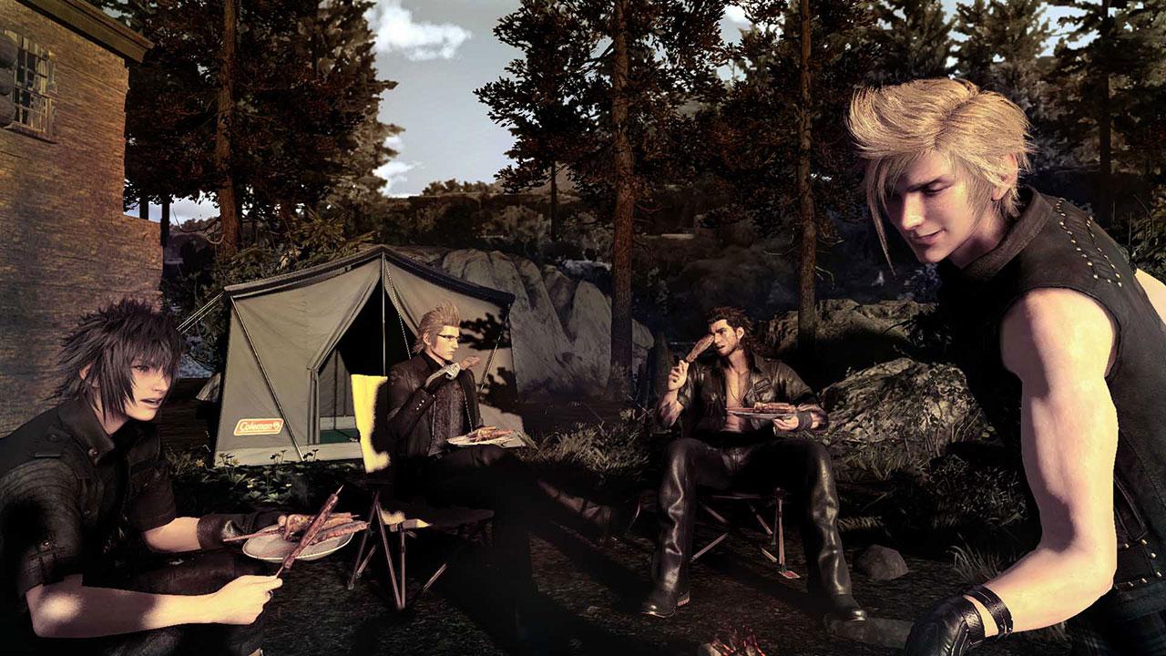 FFXV camping